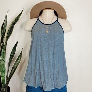 • WE THE FREE • blue & white striped tank top